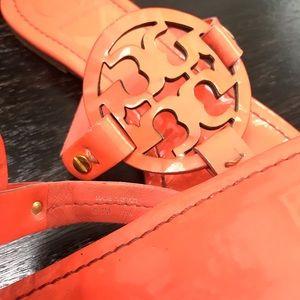 Tory Burch Shoes - {Tory Burch} Orange Miller Sandals